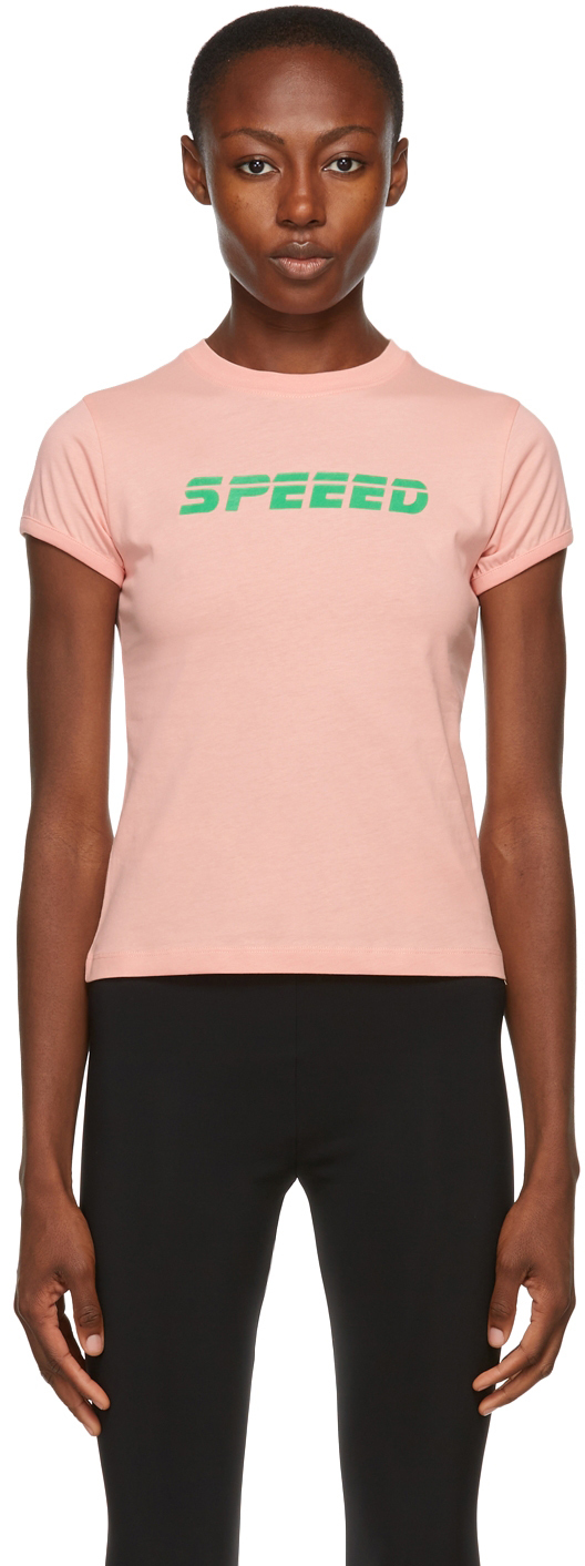 Pink 'Speeed' T-Shirt