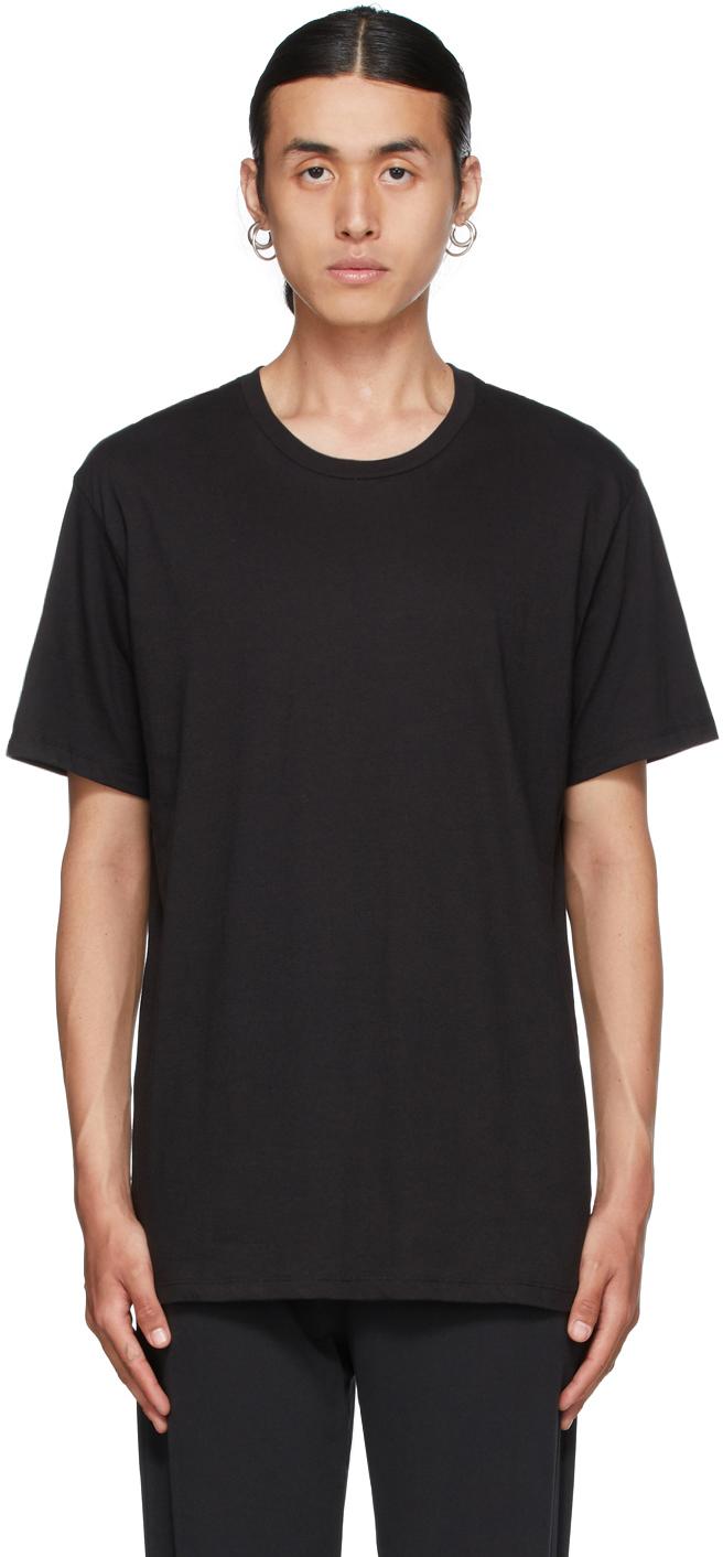 Three-Pack Black Classic Fit T-Shirts