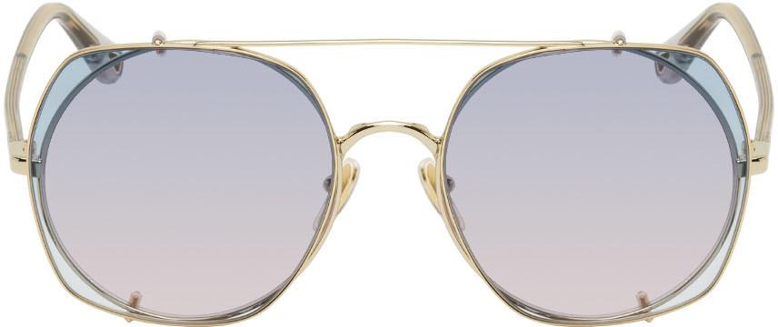 Gold & Blue Demi Sunglasses