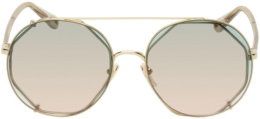 Gold & Green Demi Sunglasses