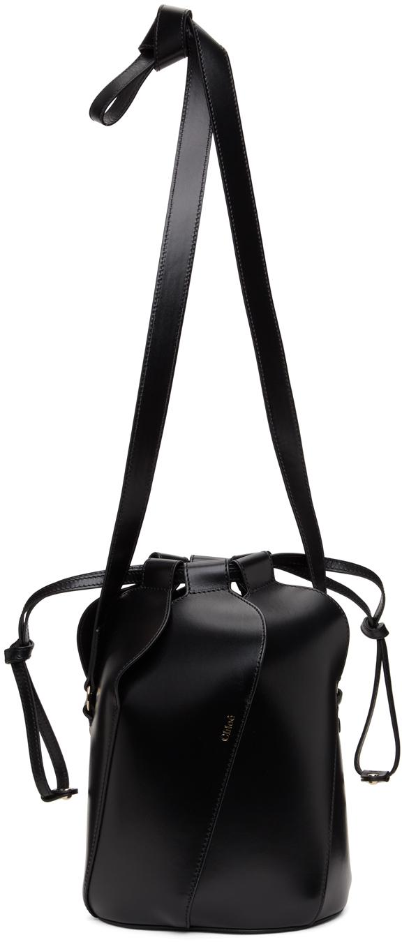 Black Small Tulip Bucket Bag