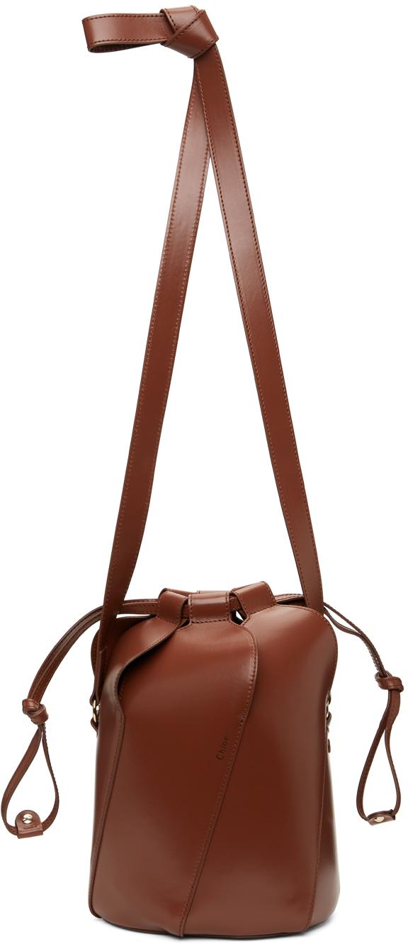 Tan Tulip Bucket Bag