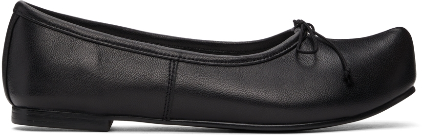 Black Pointed Toe Ballerina Flats