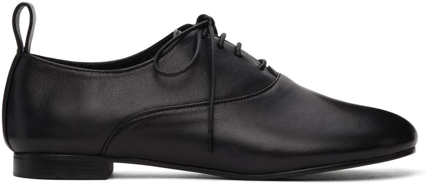 Black Pebble Toe Oxfords