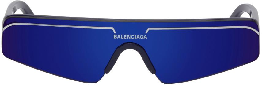 Blue Ski Rectangle Sunglasses