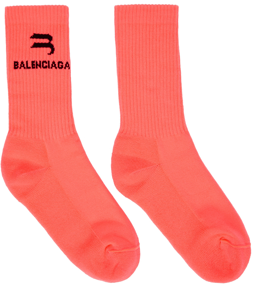 Pink 'Sporty B' Sport Socks