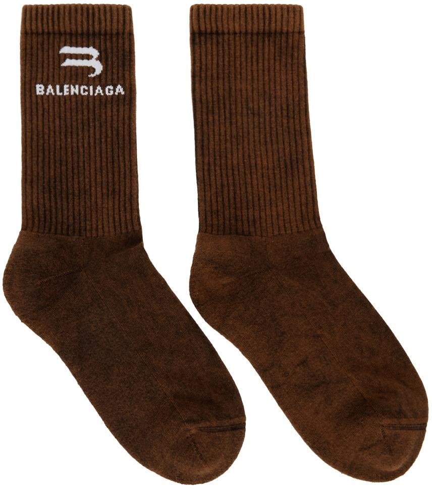 Brown Bleached Tennis Socks