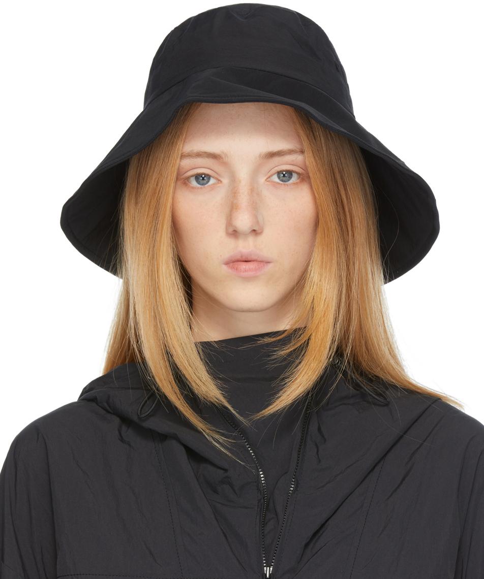 Black Canvas Bucket Hat