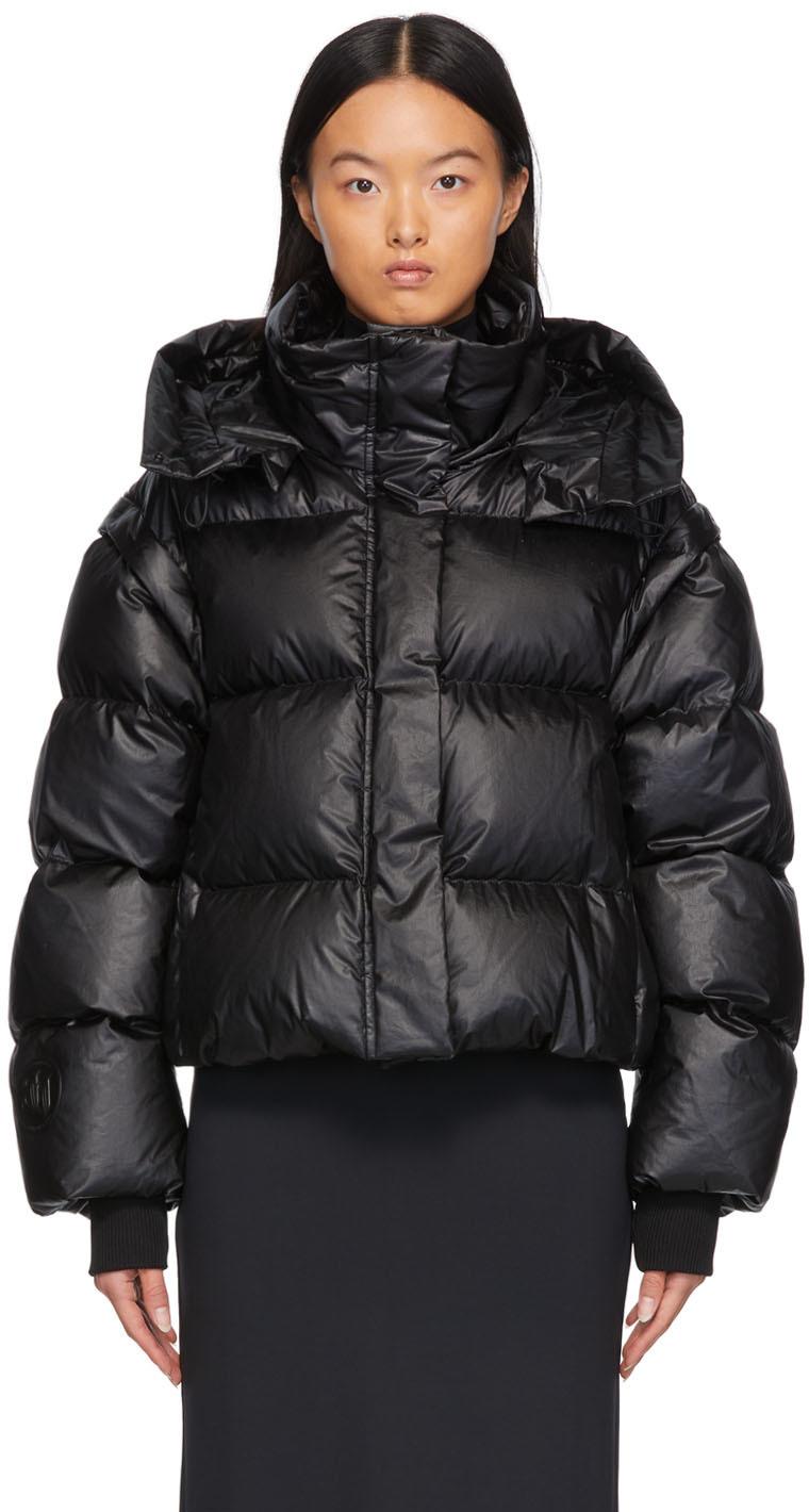 Black Down Convertible Jacket