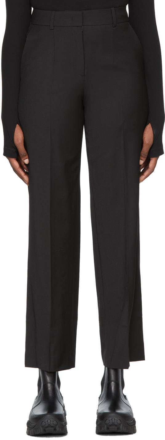 Black Wool Basic Trousers