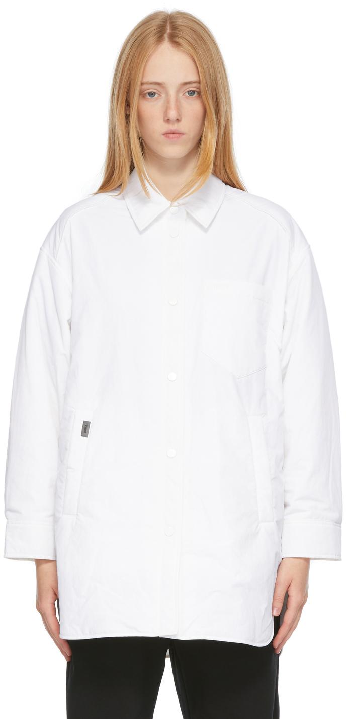 White Padded Oversized Shirt