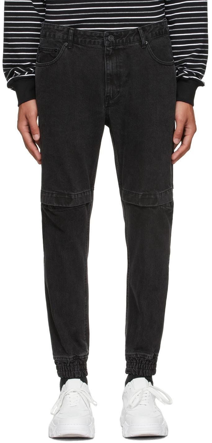 Black Jogger Denim Jeans