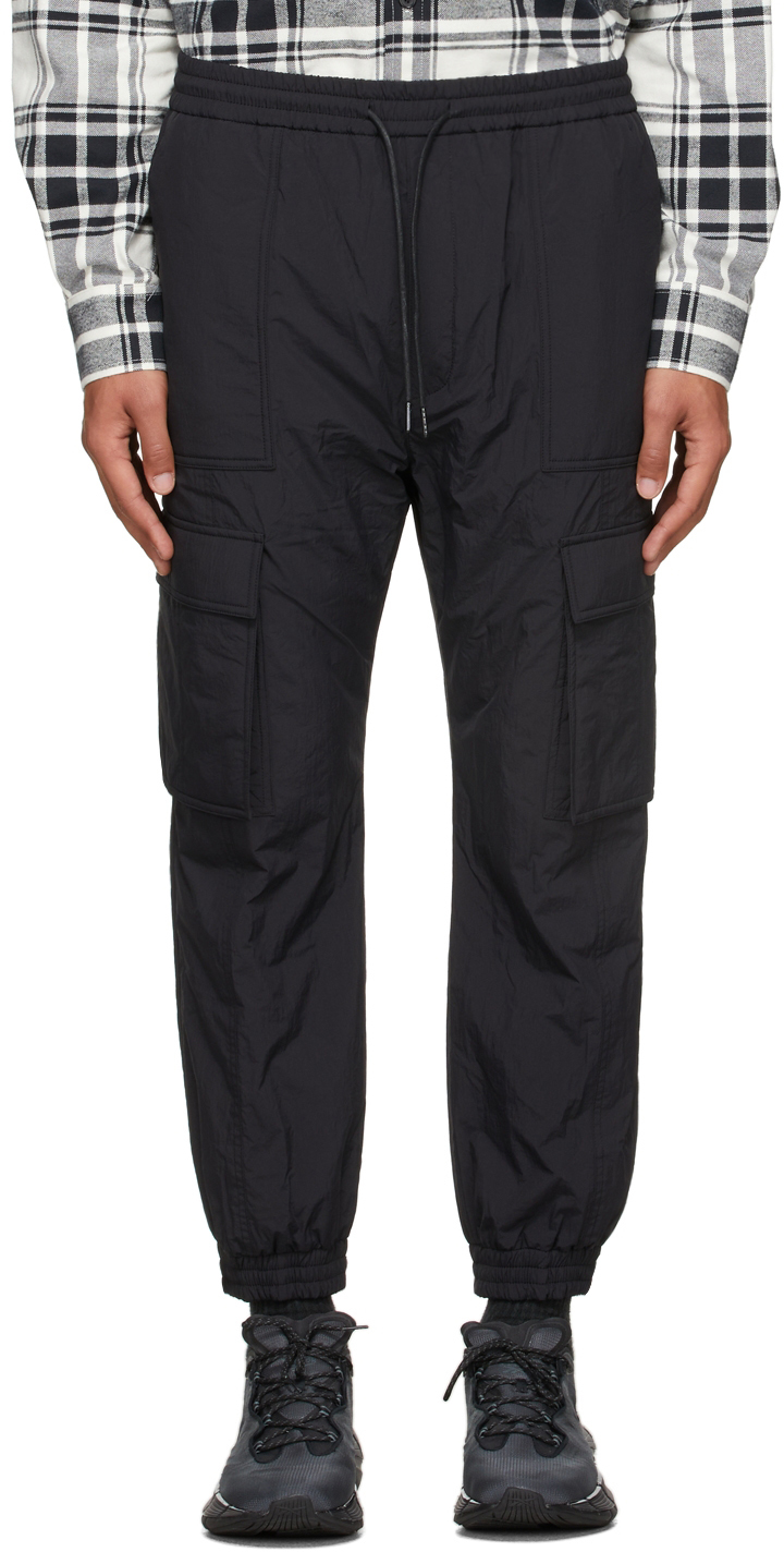 Black Insulated Jogger Cargo Pants