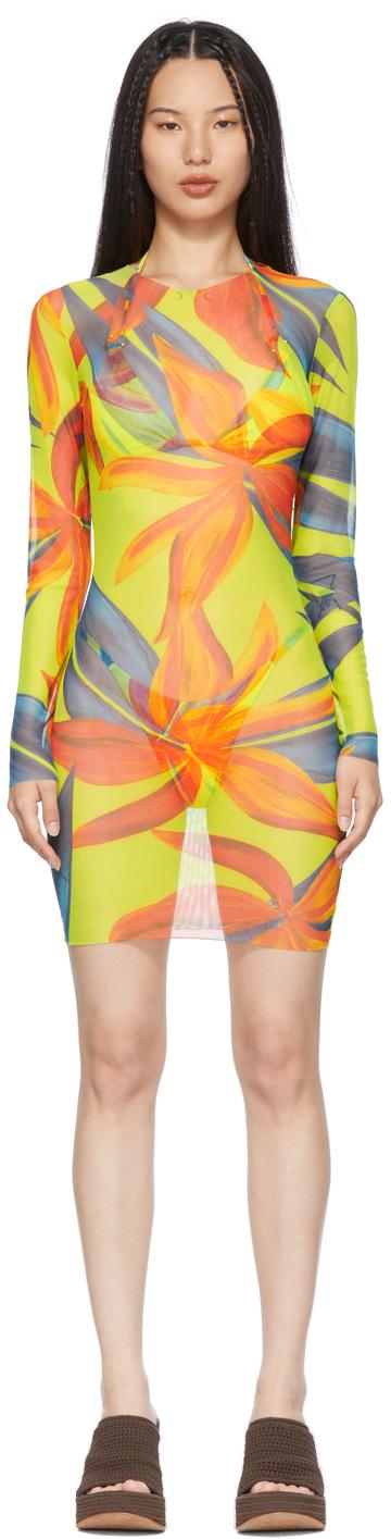 SSENSE Exclusive Yellow & Orange Low Tide Dress