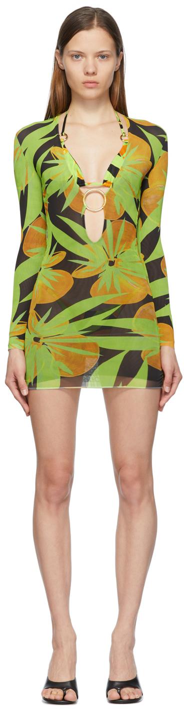 SSENSE Exclusive Black & Green Helios Dress