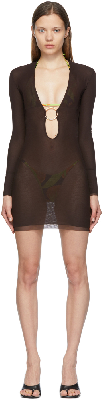 SSENSE Exclusive Brown Helios Dress