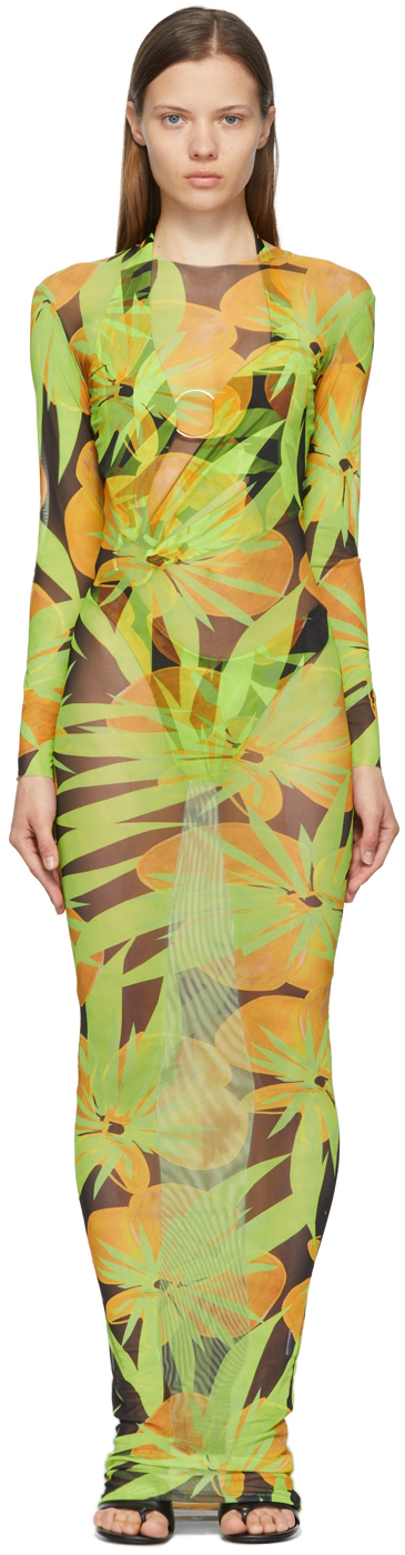 Black & Green High Tide Dress