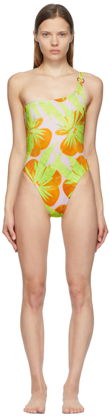 Pink & Green New One-Piece Swimsuit