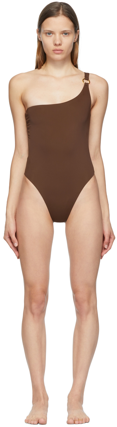 SSENSE Exclusive Brown New One-Piece Swimsuit