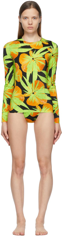 Black & Green Surfer's Paradise Bikini