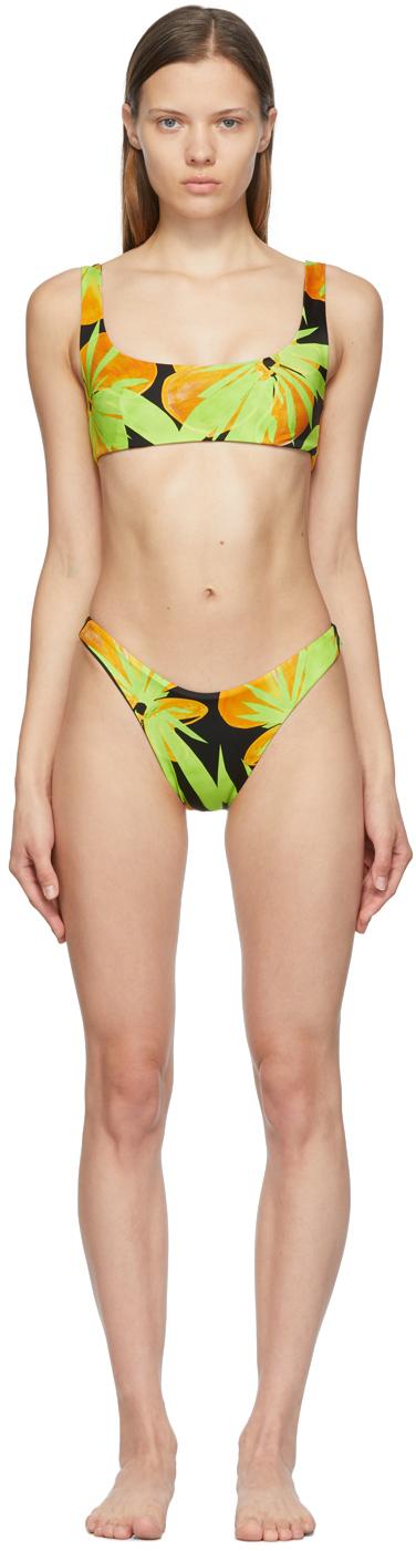 Black & Green New Bikini