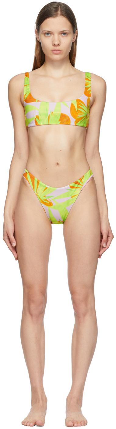 Pink & Yellow New Bikini