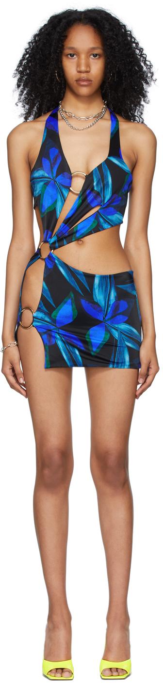 Black & Blue Sex Wax Dress