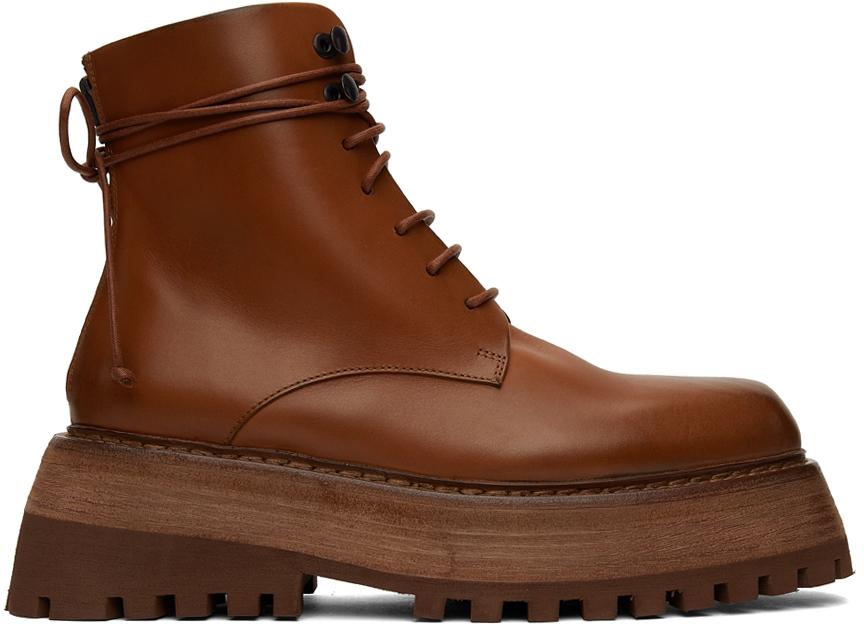 Marsèll Brown Quadrarmato Boots