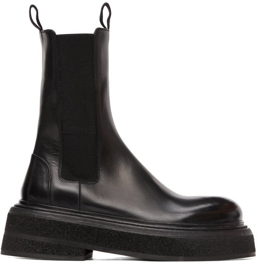 Marsèll Black Zuccone Ankle Boots