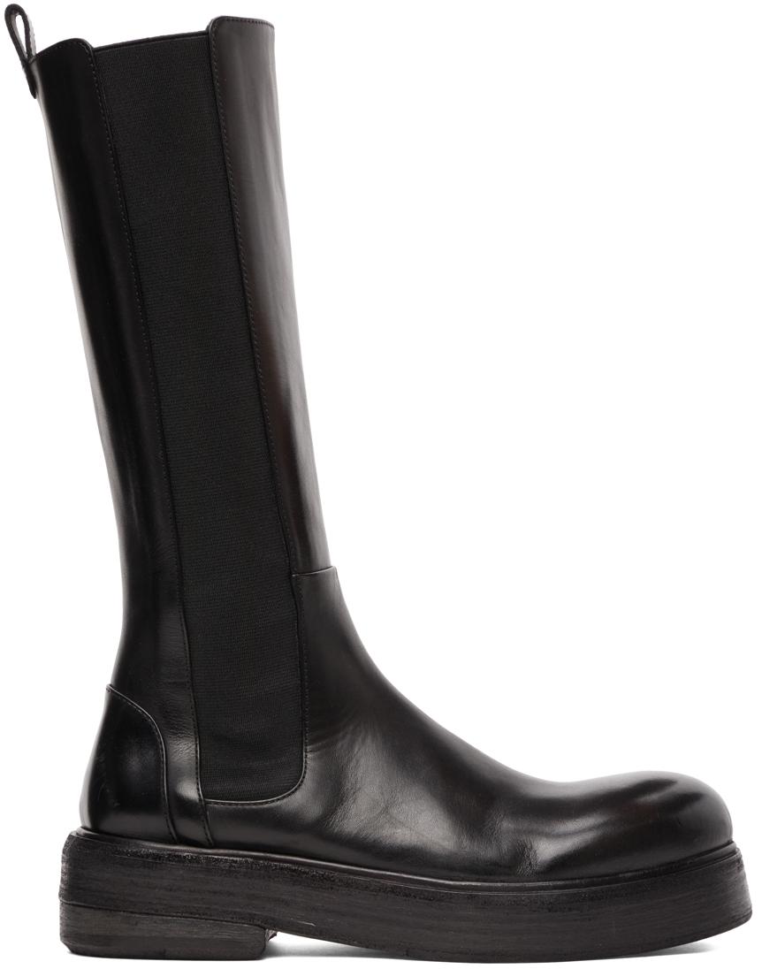 Marsèll Black Zuccolona Mid-Calf Boots