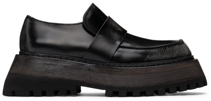 Marsèll Black Quadrarmato Loafers
