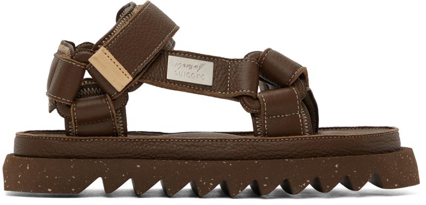Marsèll Brown Suicoke Edition DEPA MMSU01 Sandals