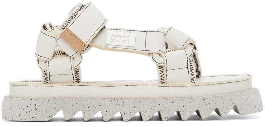 Marsèll White Suicoke Edition DEPA MMSU01 Sandals