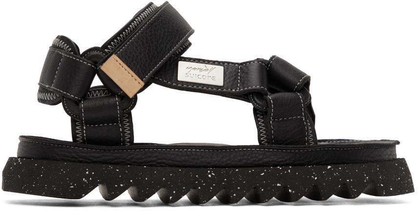 Marsèll Black Suicoke Edition DEPA MMSU01 Sandals