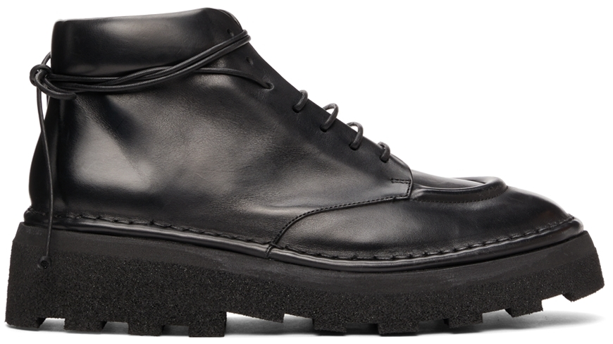 Marsèll Black Dentolone Lace-Up Boots