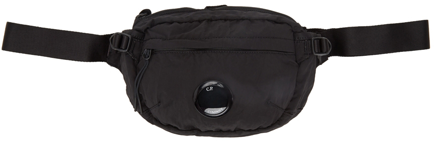 Black Nylon Logo Crossbody Bag