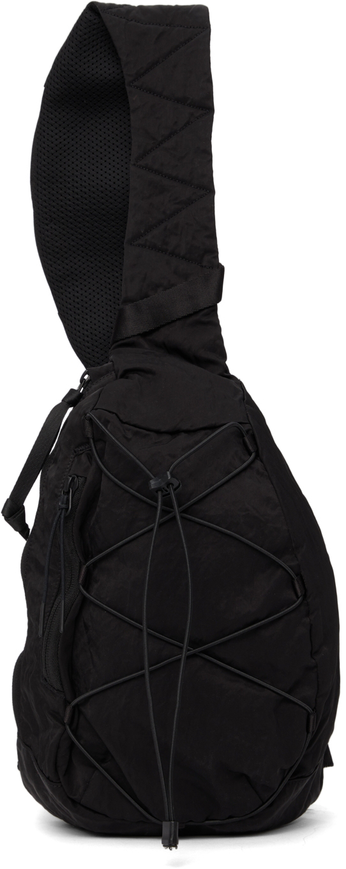 Black Nylon Crossbody Backpack