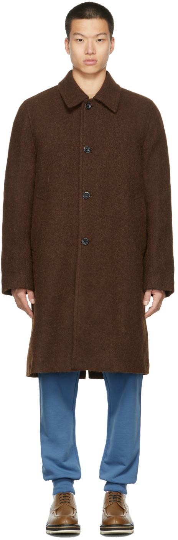 Brown Felted Alpaca Coat