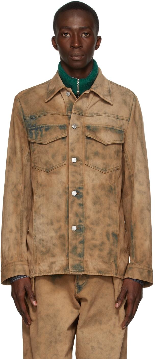 Beige Denim Dyed Jacket