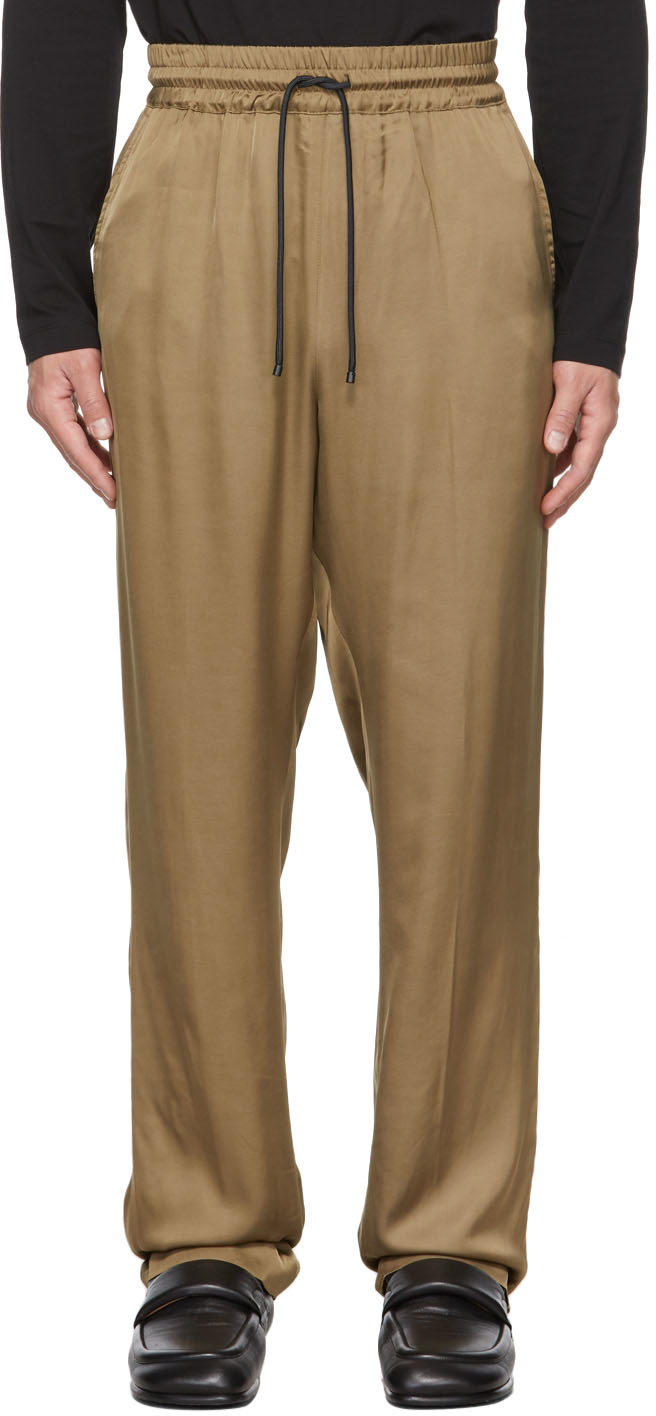 Brown Satin Palace Trousers