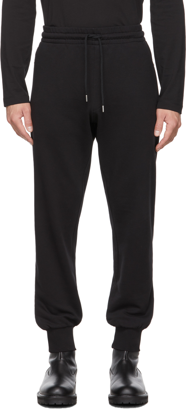 Black French Terry Jogger Lounge Pants
