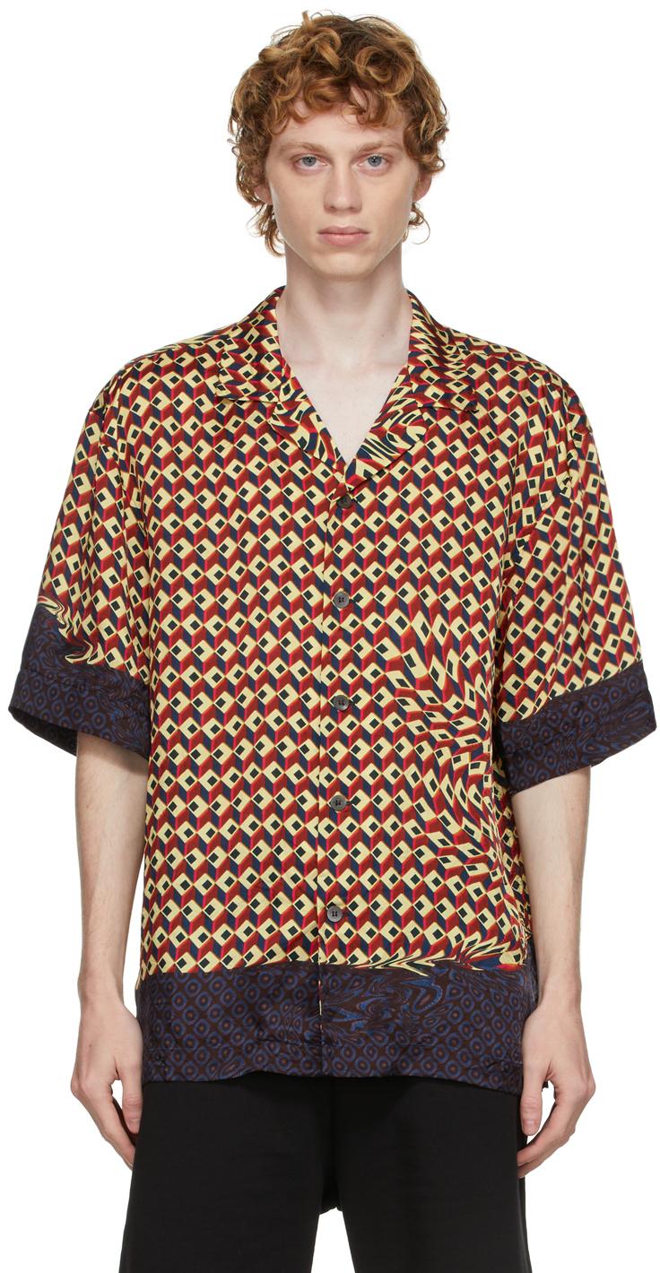 Multicolor Viscose Printed Shirt