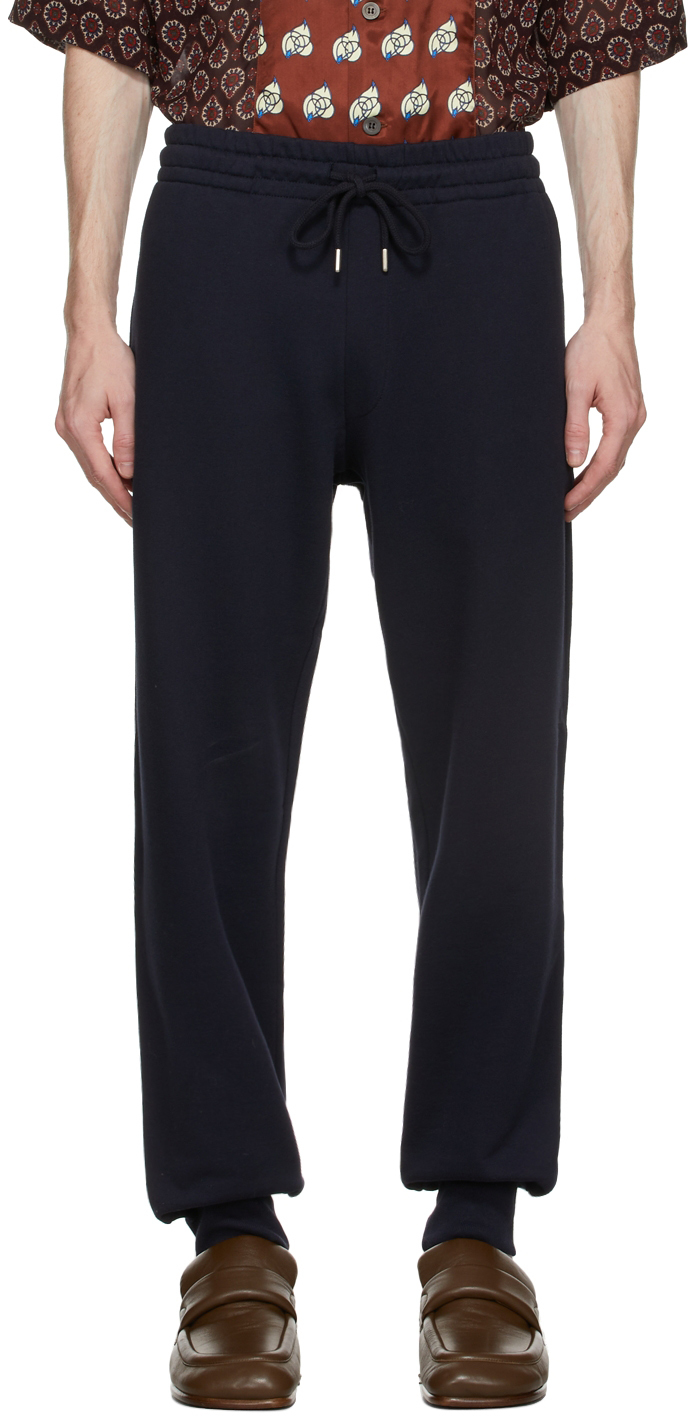 Navy French Terry Jogger Lounge Pants