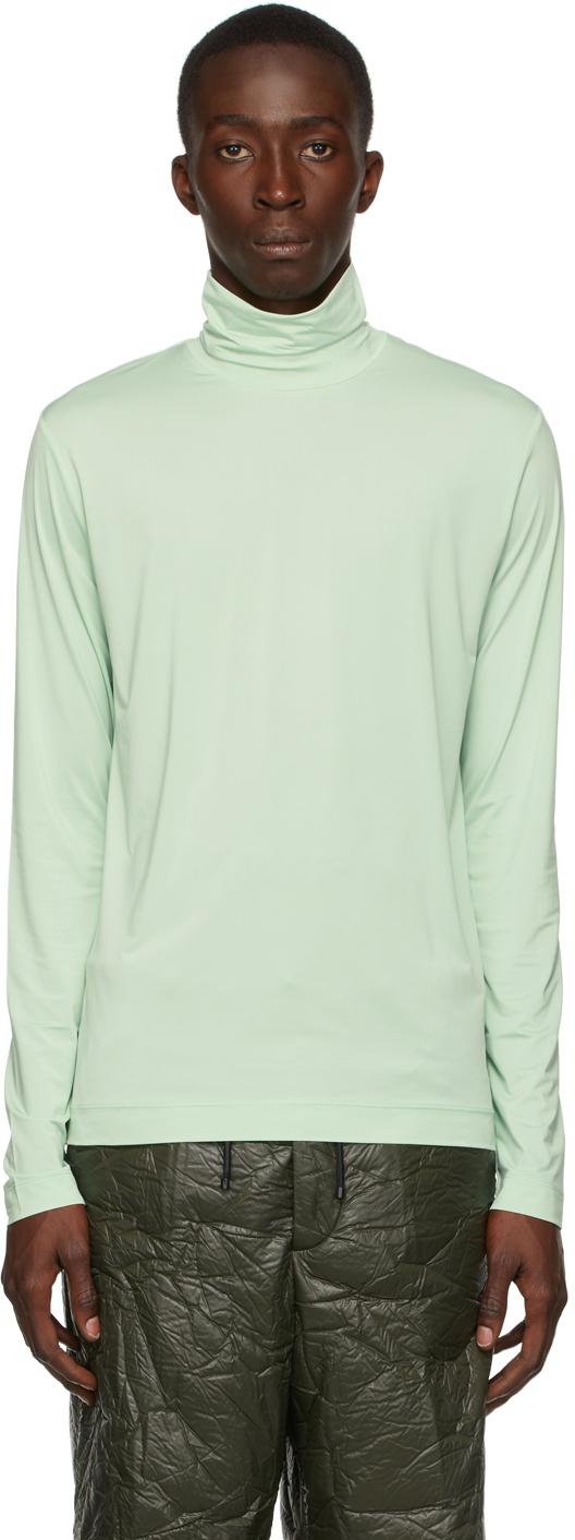 Green Stretch Turtleneck