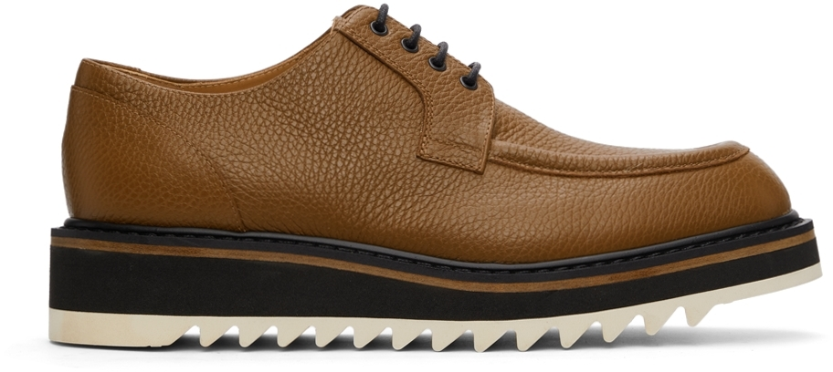 Brown Grained Leather Derbys
