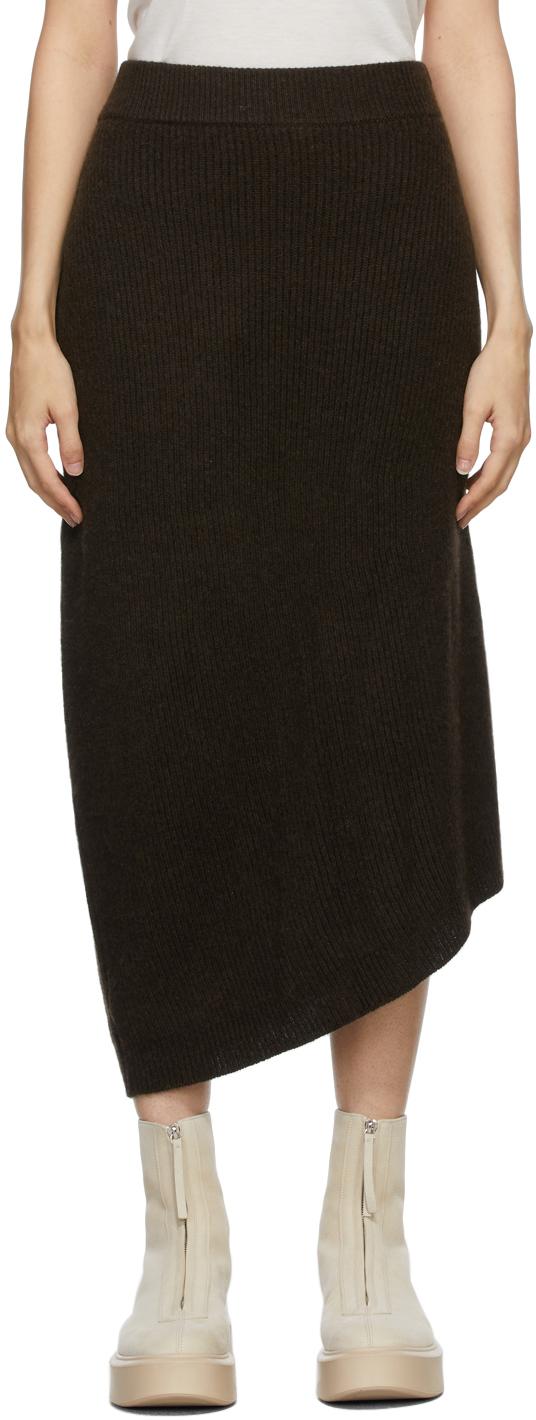 Brown Cashmere Cymone Skirt
