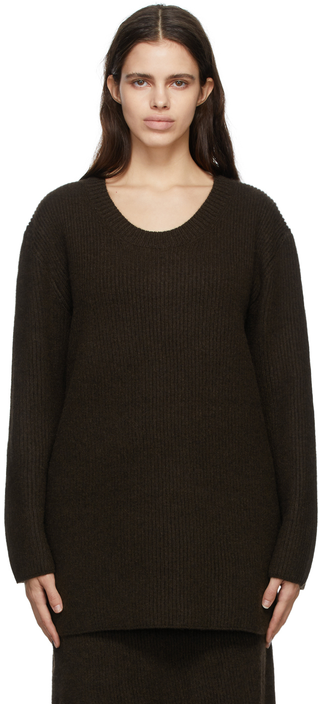 Brown Cashmere Camela Sweater