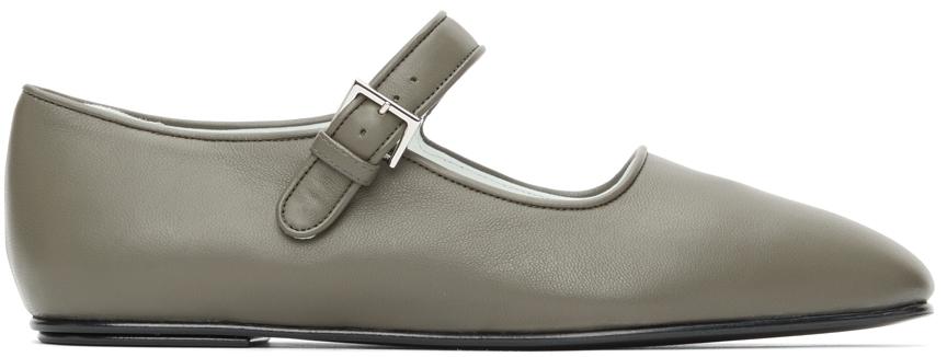 Grey Ava Ballerina Flats