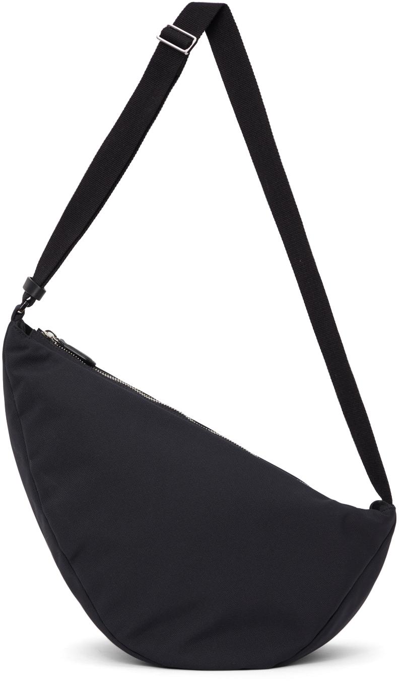 Black Slouchy Banana Two Messenger Bag