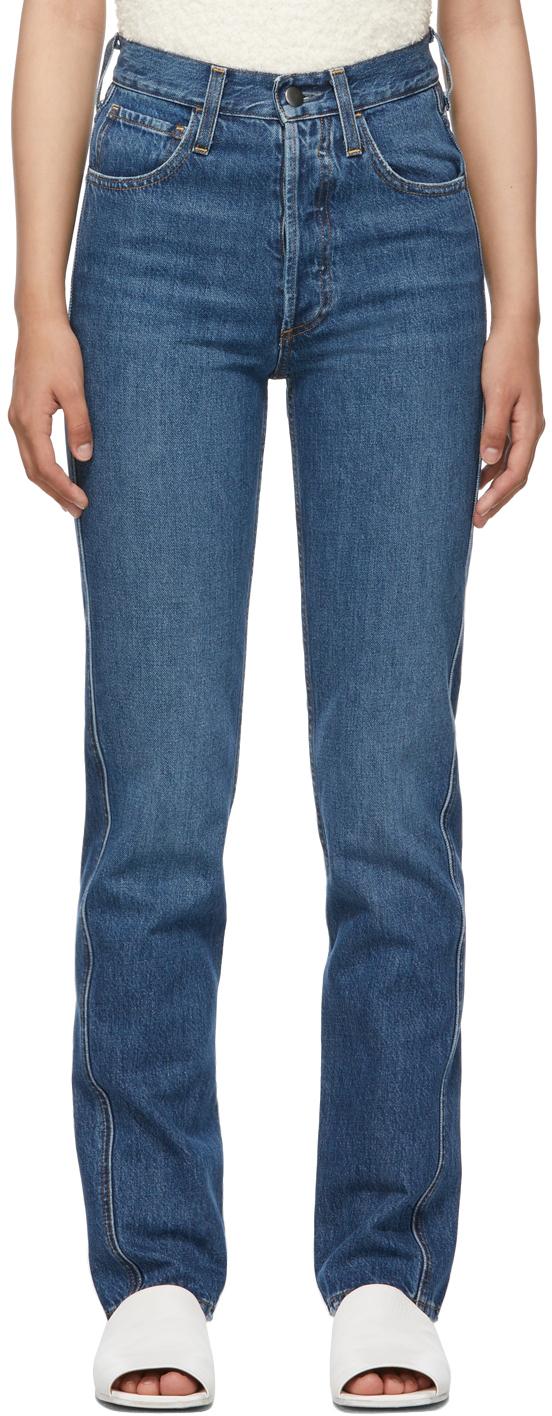 Indigo High-Rise Jeans